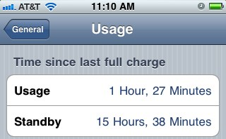 iphone battery use