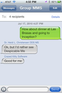 iphone group text messaging