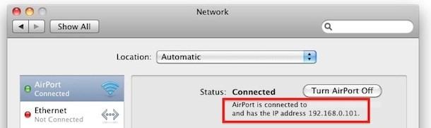 lan ip address mac