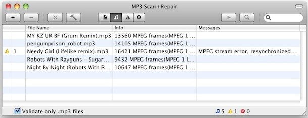 repair mp3 files