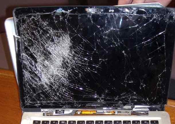 shattered macbook pro screen