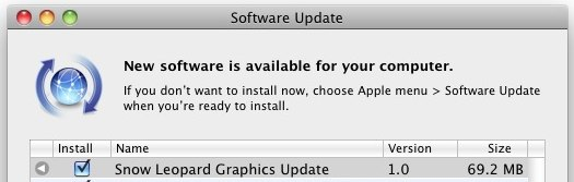 snow leopard graphics update