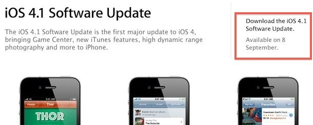 ios 4-1 release date