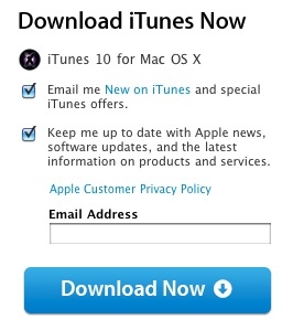 itunes 10 download available