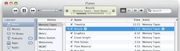 itunes store arrows to itunes library