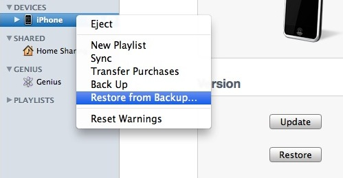how to restore iphone to last backup restore an iphone from backup 20254