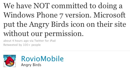 angrybirds windows phone 7