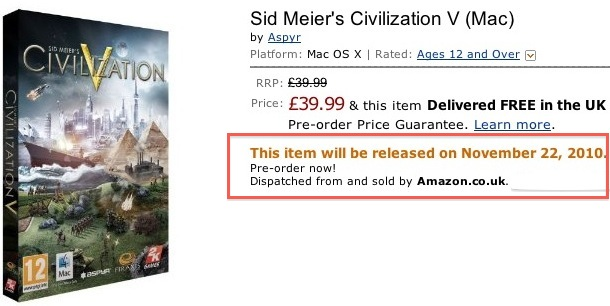 civilization 5 for mac release date