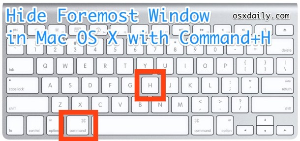 Hide windows keyboard shortcut in Mac OS X