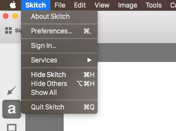Hiding windows and apps in Mac OS X from the menu bar item is the same result as using the keystroke