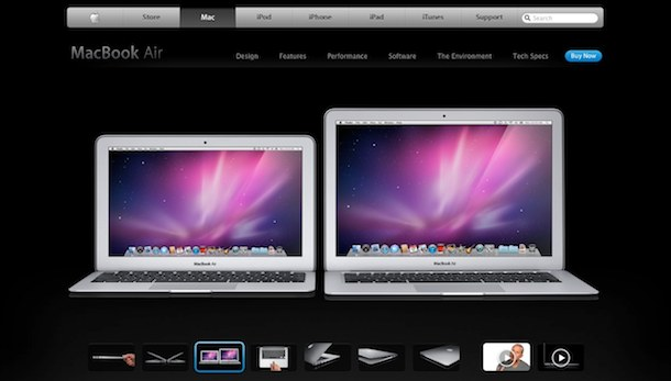 macbook air website