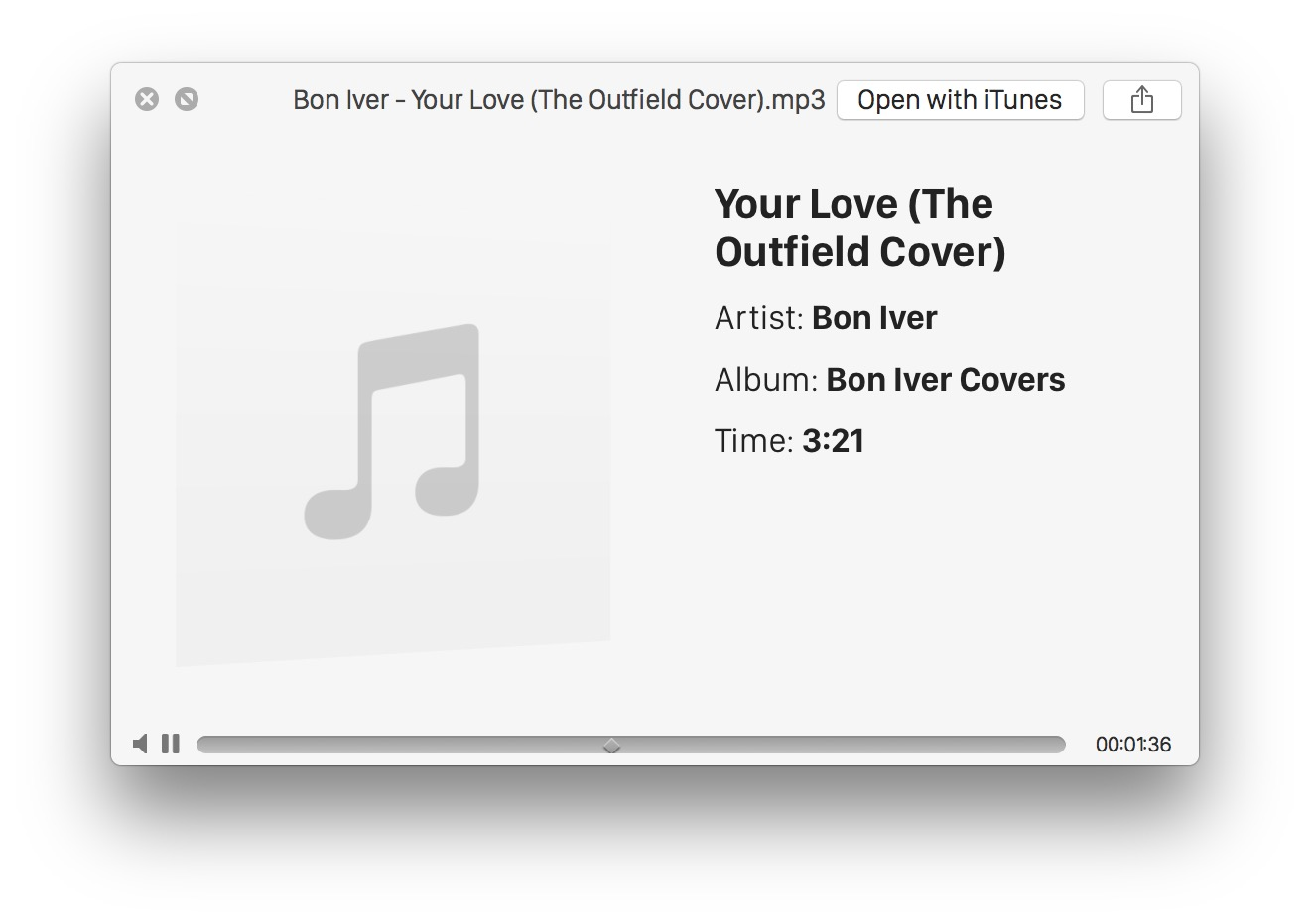Playing an audio file in Quick Look in Mac OS X