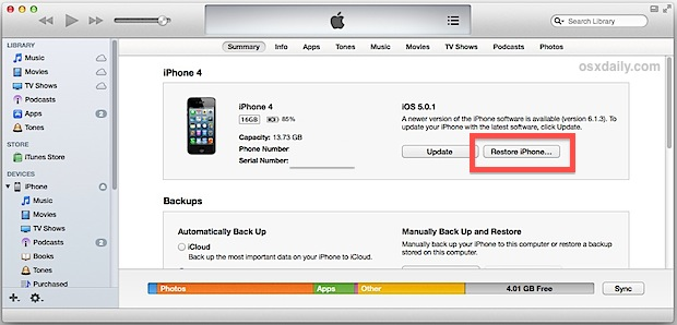 restore iphone from backup restore an iphone from backup 2003