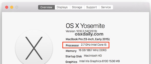 See a Macs processor speed and chip type in OS X
