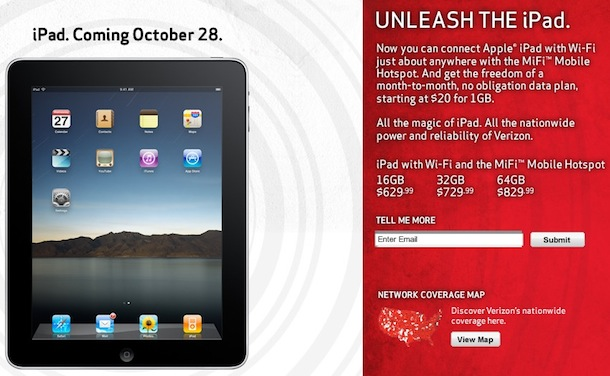 verizon ipad