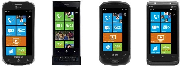 windows phone 7 lineup