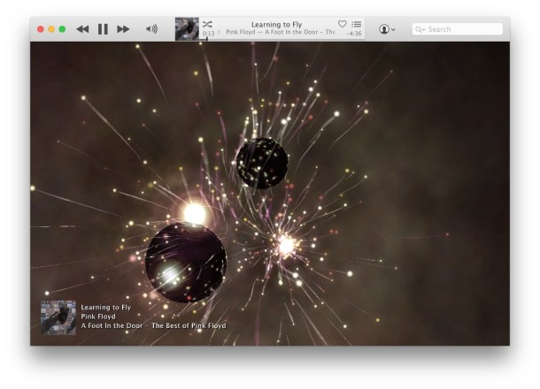 iTunes Visualizer effects