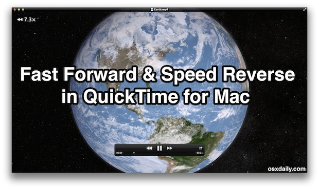 Fast Forward and Speed Reverse in QuickTime for Mac