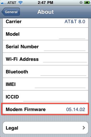 find iphone baseband