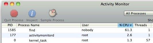 find process activity monitor mac