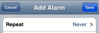 fix iphone alarm bug