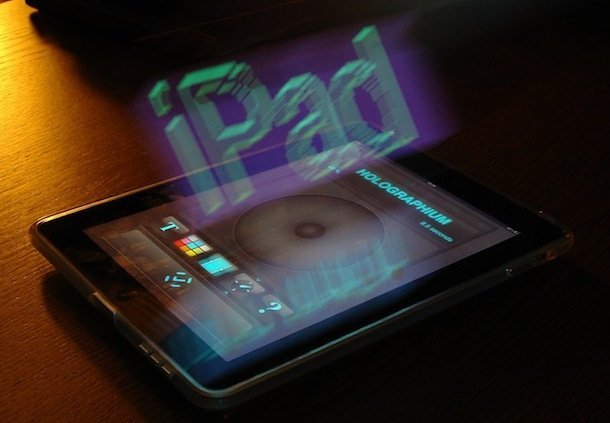 hologram 3d ipad text iphone