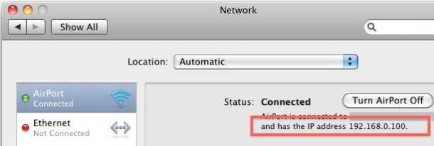 ip address mac