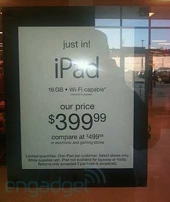 ipad for 399 tjmaxx