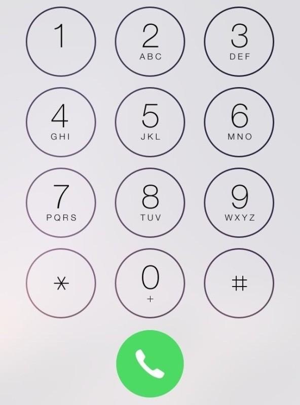iPhone phone dial screen