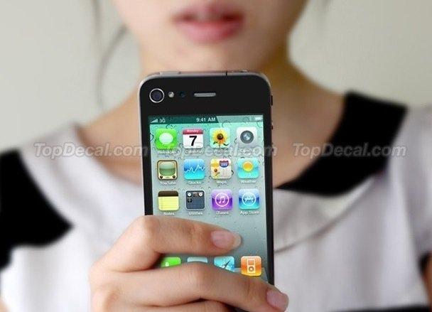 iphone screen backwards decal