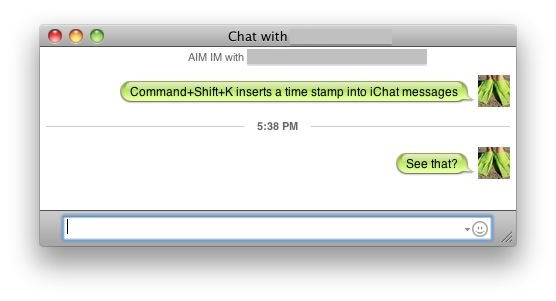timestamp ichat