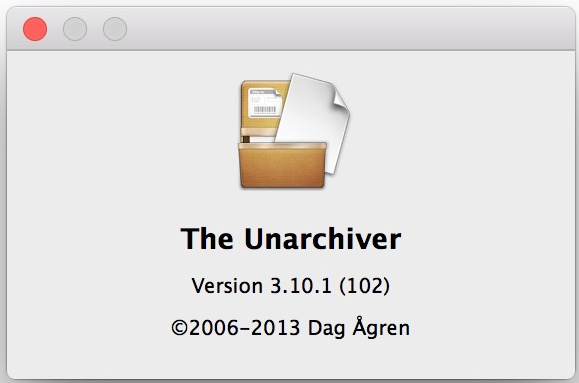 Unrar with The Unarchiver in Mac OS X