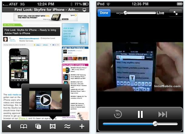 watch flash video iphone