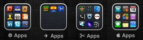 wingding ios folder label
