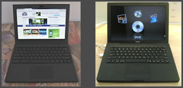 google chrome notebook and macbook