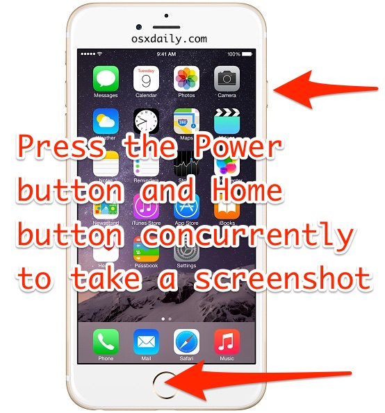 How to take iPhone screenshot
