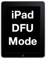 ipad dfu mode