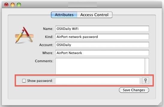 recover forgotten wireless password