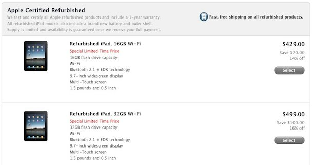 refurb ipad sale
