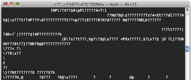 reset terminal gibberish