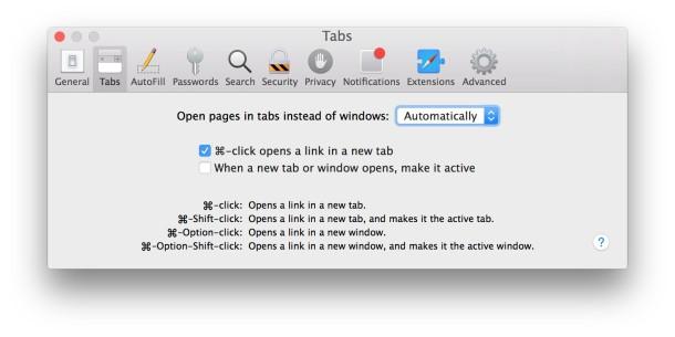 Safari always open new windows into tabs