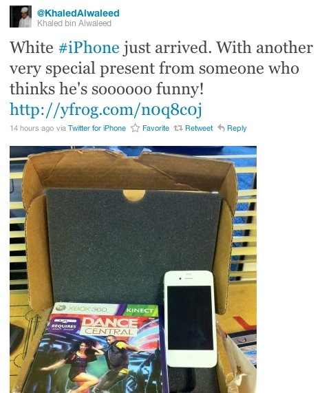 saudi prince gets a white iphone 4