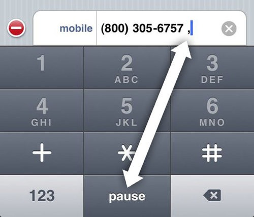save dial extensions on iphone