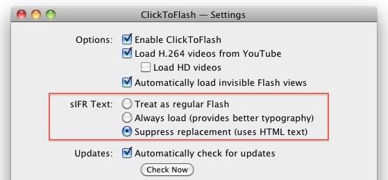 show sifr flash block