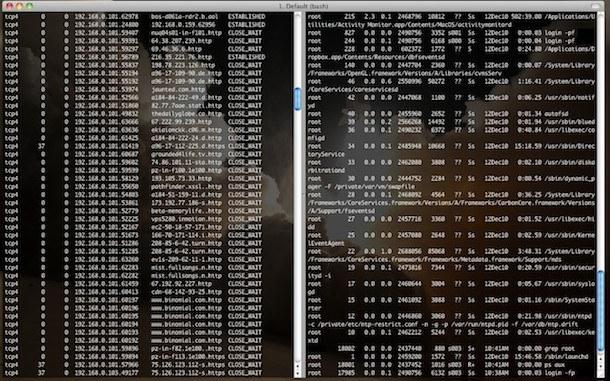 split terminal windows mac iterm2