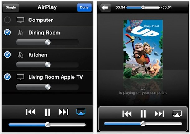 stream from itunes to appletv with remote