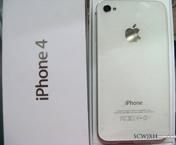 white iphone 4 in box