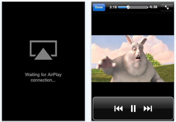 airview airplay stream iphone to iphone