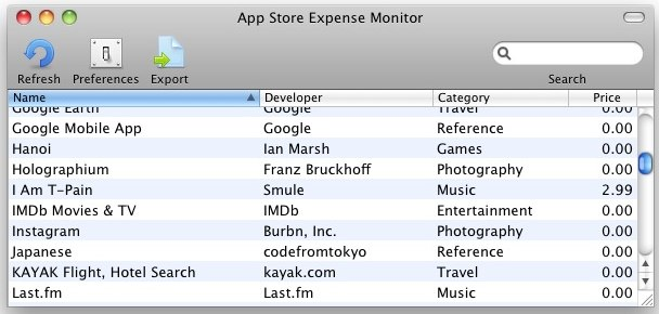 app store expense monitor