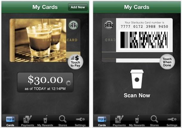 buy starbucks with iphone